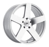 Black Rhino Everest 20x9.0 5x139.7 ET20 CB 78.1 Silver w/Mirror Cut Face Wheel