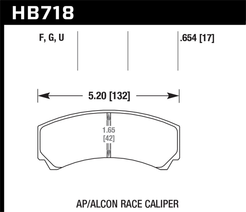 Hawk AP Racing/Alcon HPS Street Brake Pads