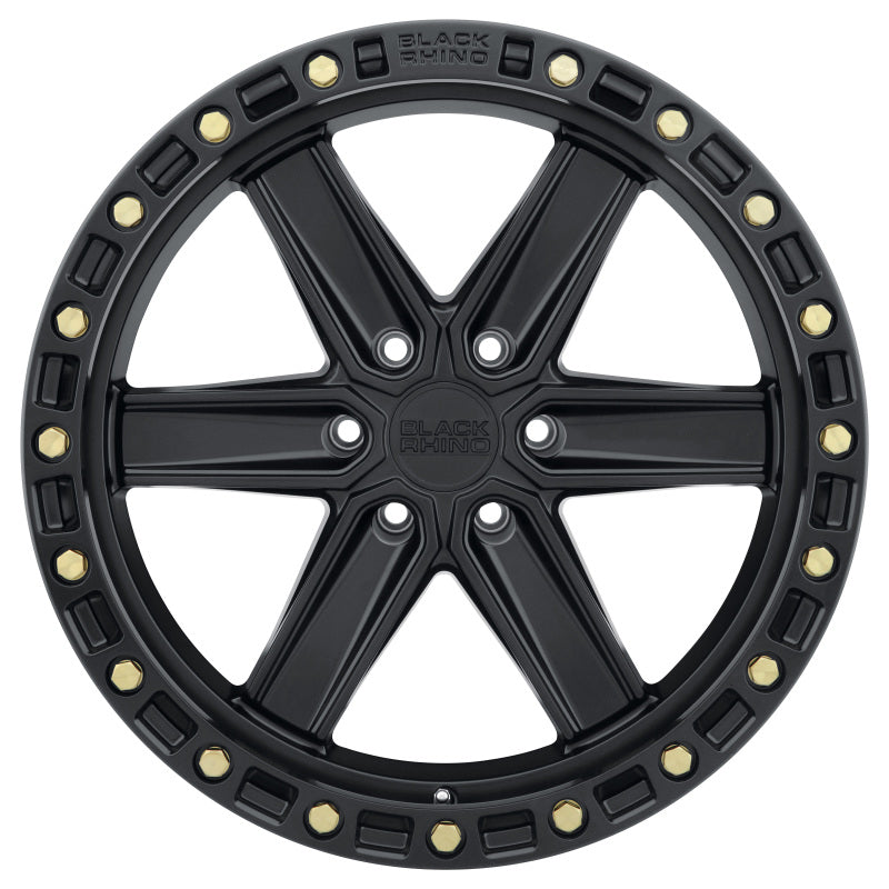 Black Rhino Henderson 18x9.0 6x139.7 ET12 CB 112.1 Matte Black w/Brass Bolts Wheel
