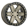 Black Rhino Attica 18x9.5 5x150 ET12 CB 110.1 Matte Bronze w/Black Lip Edge & Brass Bolts Wheel
