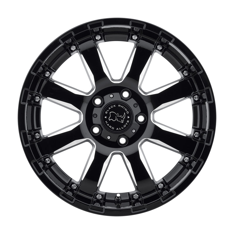 Black Rhino Sierra 20x10.0 5x127 ET-23 CB 78.1 Gloss Black w/Milled Spokes Wheel