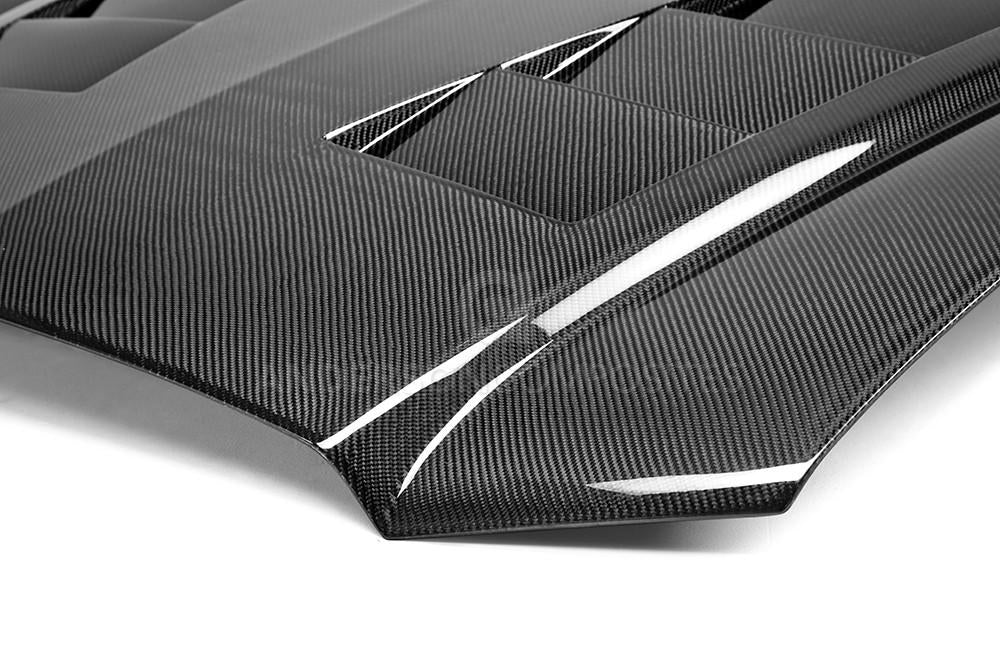 Anderson Composites Type-TS Carbon Fiber Heat Extractor Hood 2011-2014 Dodge Charger