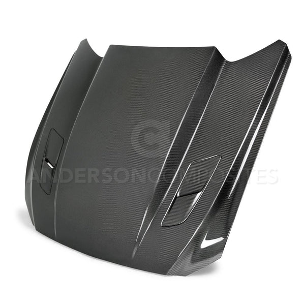 Anderson Composites Carbon Fiber Cowl Hood 2015-2017 Ford Mustang