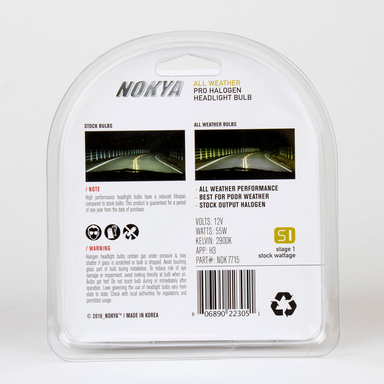 Nokya All Weather 2900K Stage 1 Halogen Bulb H3 55W
