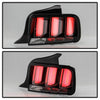 2005-2009 Ford Mustang (White Light Bar) LED Tail Lights - Black