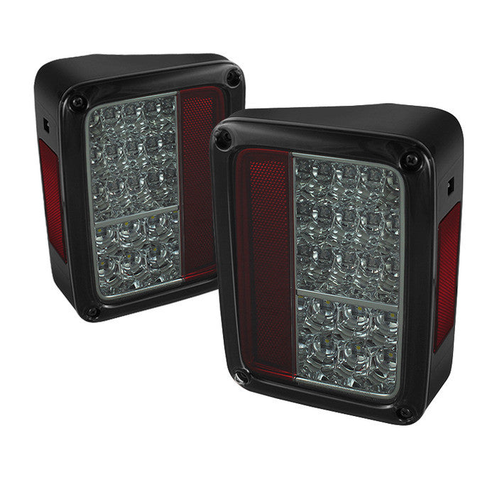 2007-2016 Jeep Wrangler LED Tail Lights - Smoke