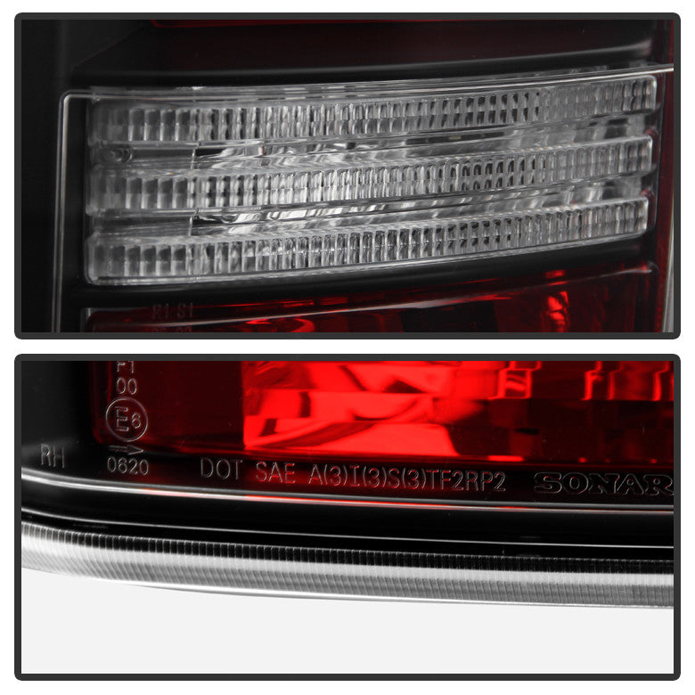 2005-2009 Land Rover Discovery 3 LR3 Light Bar LED Tail Lights - Black