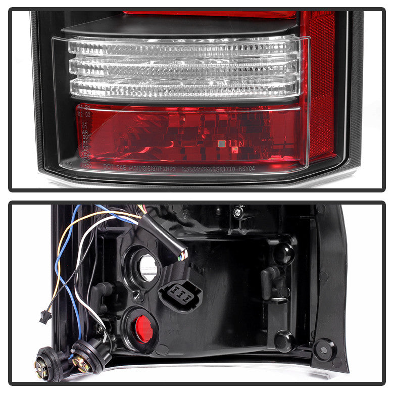 2010-2014 Land Rover Discovery LR4 Light Bar LED Tail Lights - Black