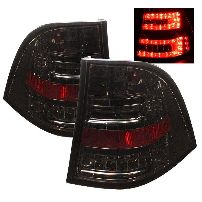 1998-2005 Mercedes Benz W163 M-Class ML LED Tail Lights - Smoke