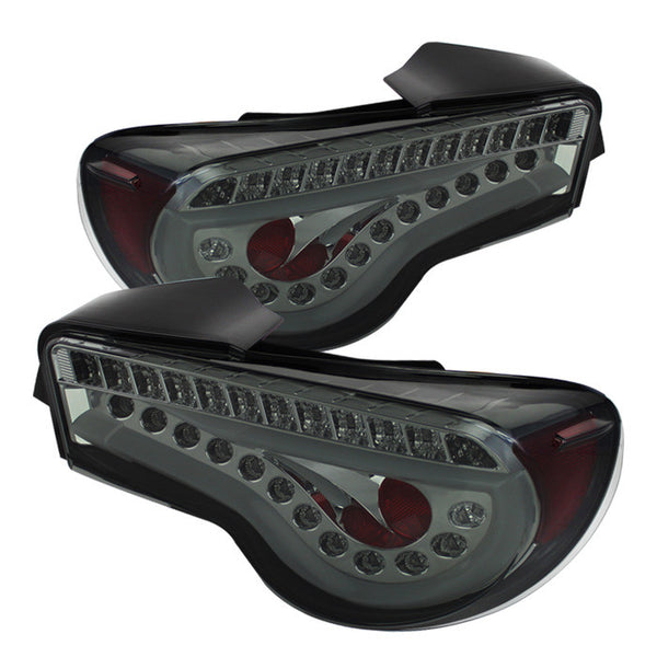 2012-2016 Scion FRS / Subaru BRZ Light Bar LED Tail Lights - Smoke