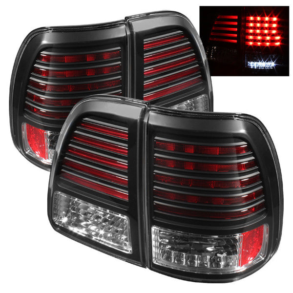 1998-2005 Toyota Land Cruiser LED Tail Lights - Black