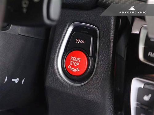 AutoTecknic Replacement Bright Red Start Button  BMW F-Chassis Vehicles