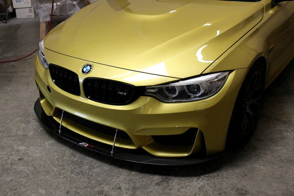APR Carbon Fiber Custom Wind Splitter w/Rods 2014-up BMW F80 M3 / F82 M4 Factory Bumper