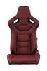 Braum Elite Series Racing Seats (Maroon Leatherette/Faux Carbon Fiber) – PAIR