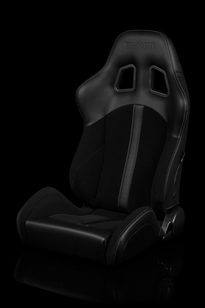 Braum Defender Series Sport Seats Black (Black Stripe) – PAIR
