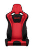 Braum Venom Series Racing Seats (Black-Red Fabric/Mesh Mixed) Red Stitching – PAIR