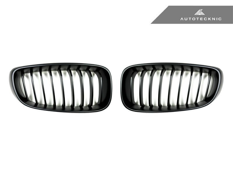 AutoTecknic Replacement Stealth Black Front Grilles BMW F34 3-Series Gran Turismo