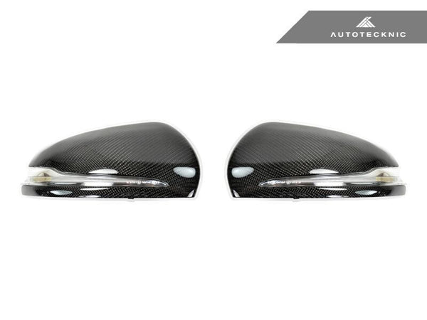 Autotecknic Replacement Carbon Fiber Mirror Covers Mercedes Benz W205 C-Class | W222 S-Class