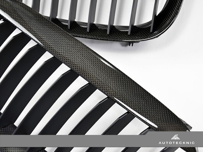 AutoTecknic Replacement Carbon Fiber Front Grilles BMW E63 Coupe / E64 Cabrio | 6 Series & M6