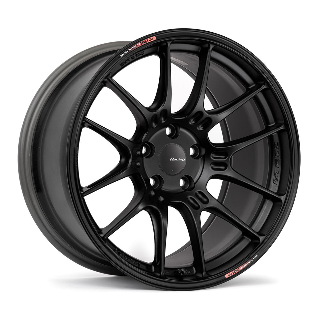 18x9.5 Enkei Racing GTC02 Honda Civic Type R FK8 Fitment Matte Black (5x120)