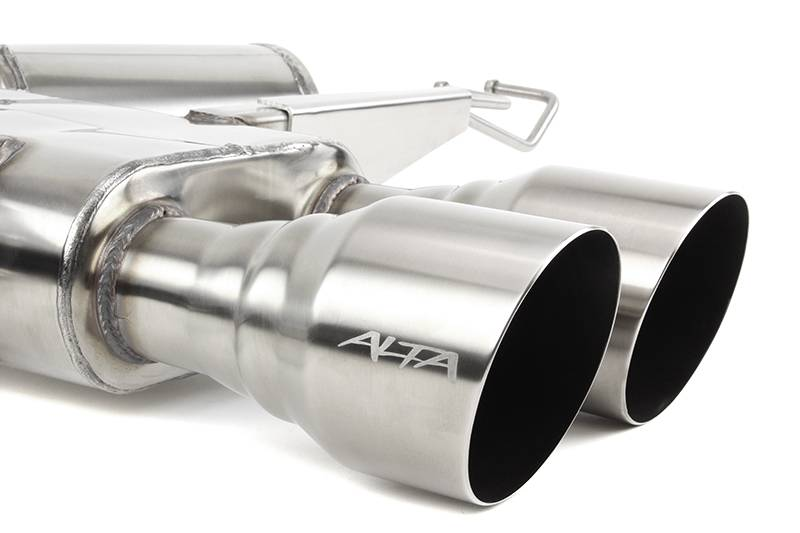 Alta Brushed Twin Tip Catback Exhaust 2017-2018 Honda Civic Type-R (FK8)