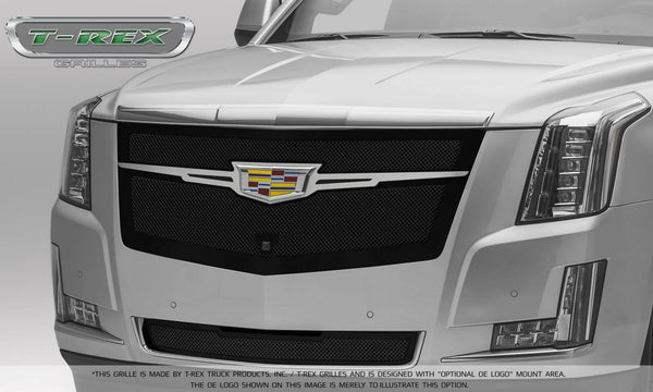 T-Rex Upper Class Main Grille Replacement 2015-2016 Cadillac Escalade (Black w/ Brushed Center Trim Piece)