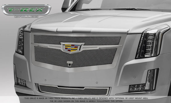 T-Rex Upper Class Main Grille Replacement 2015-2016 Cadillac Escalade (Chrome Plated w/ Chrome Center Trim Piece)