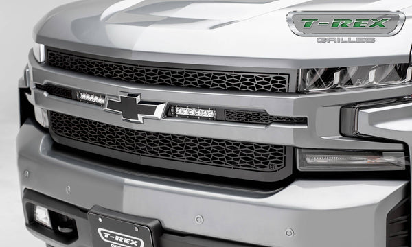 T-Rex 2019 Chevrolet Silverado 1500 ZROADZ Grille, 1 Pc, Replacement (Black Mild Steel)