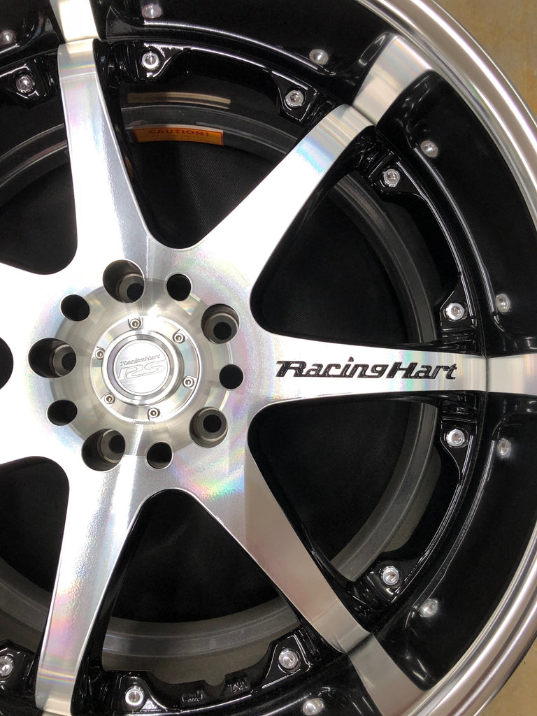 19x9.0 / 19x10.5 Racing Hart RS-521 5x114.3 Machined Silver