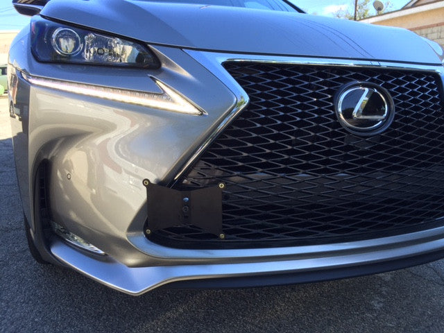 DARKSIDE Front Tow Hook License Plate Mount 2015-2016 Lexus NX 200t / F Sport
