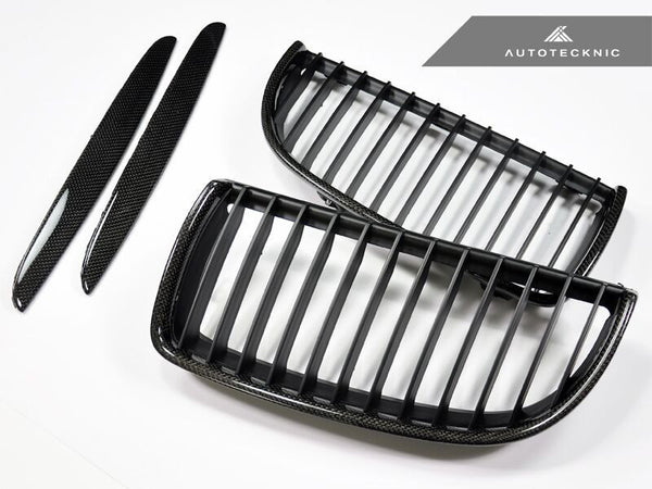 AutoTecknic Replacement Carbon Fiber Front Grilles BMW E90 Sedan / E91 Wagon | 3 Series