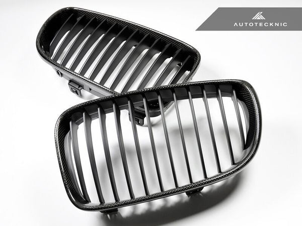 AutoTecknic Replacement Carbon Fiber Front Grilles BMW E82 Coupe / E88 Cabrio | 1 Series including 1M