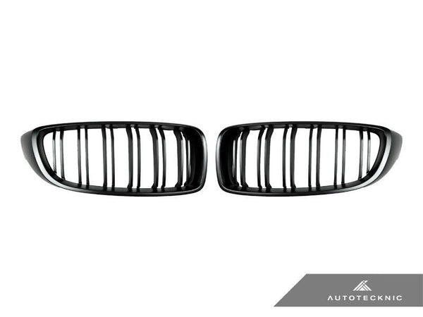 Autotecknic Replacement Dual-Slats Stealth Black Front Grilles BMW F32/ F36 4-Series | F80 M3 | F82 M4