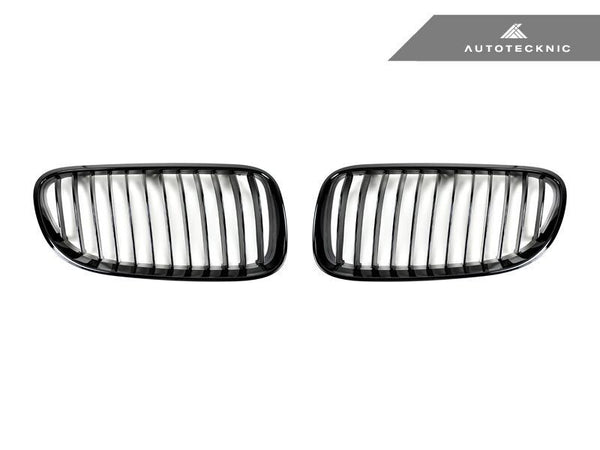 Autotecknic Replacement Glazing Black Front Grilles BMW E92 Coupe / E93 Cabrio | 3 Series LCI