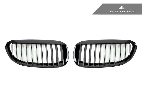 AutoTecknic Replacement Glazing Black Front Grilles BMW E63 Coupe / E64 Cabrio | 6 Series & M6