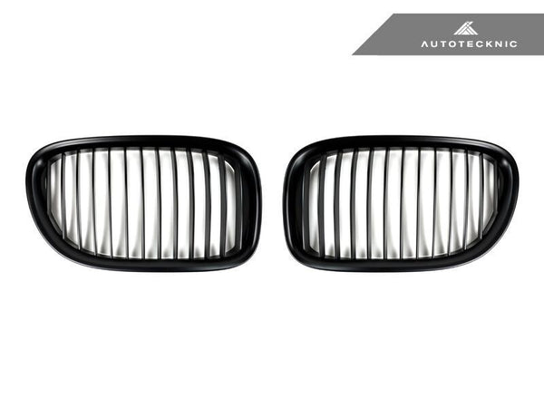 AutoTecknic Replacement Stealth Black Front Grilles BMW F01/ F02 7-Series