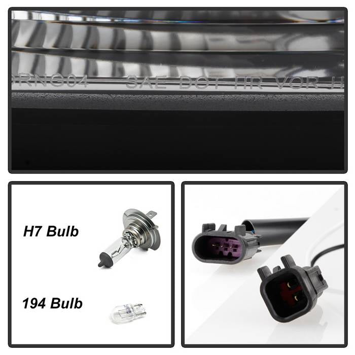 2004-2006 Dodge Durango Projector Headlights - Chrome