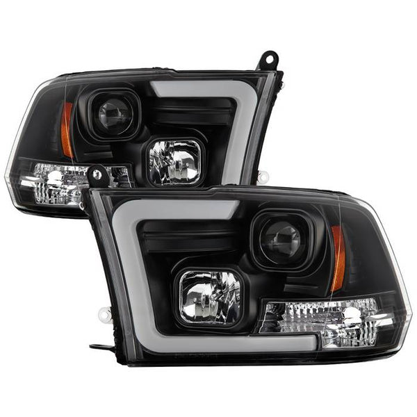 2009-2018 Dodge Ram 1500 / 2010-2019 Ram 2500/3500 Version 2 Projector Headlights - Halogen Model Only- Black Housing (Not Compatible With Factory Projector And LED DRL)