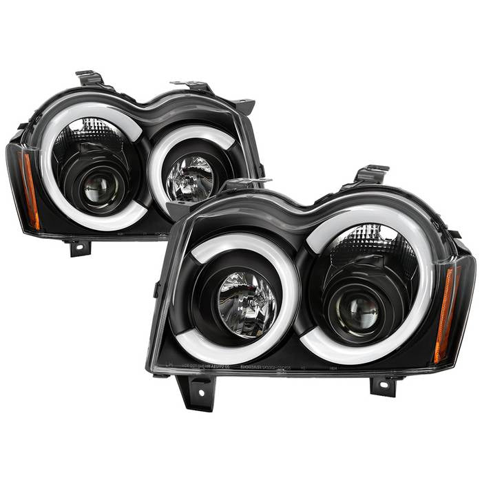 2005-2007 Jeep Grand Cherokee Light Bar Projector Headlights