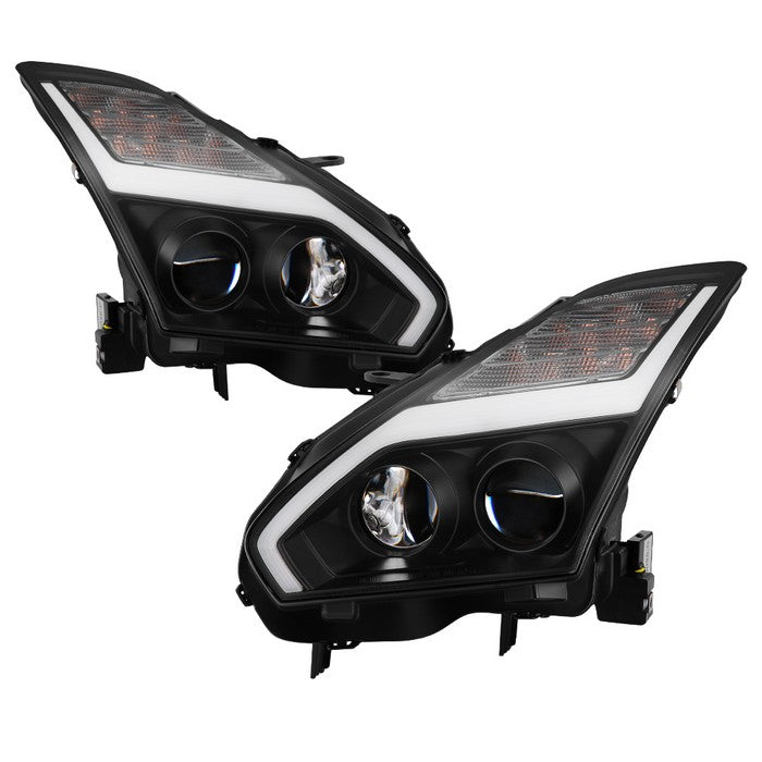 2009-2014 Nissan GTR Projector Headlights - Black