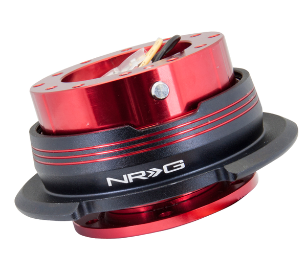 NRG Gen 2.9 Red/Black Ring & 3 Red Stripes Steering Wheel Quick Release