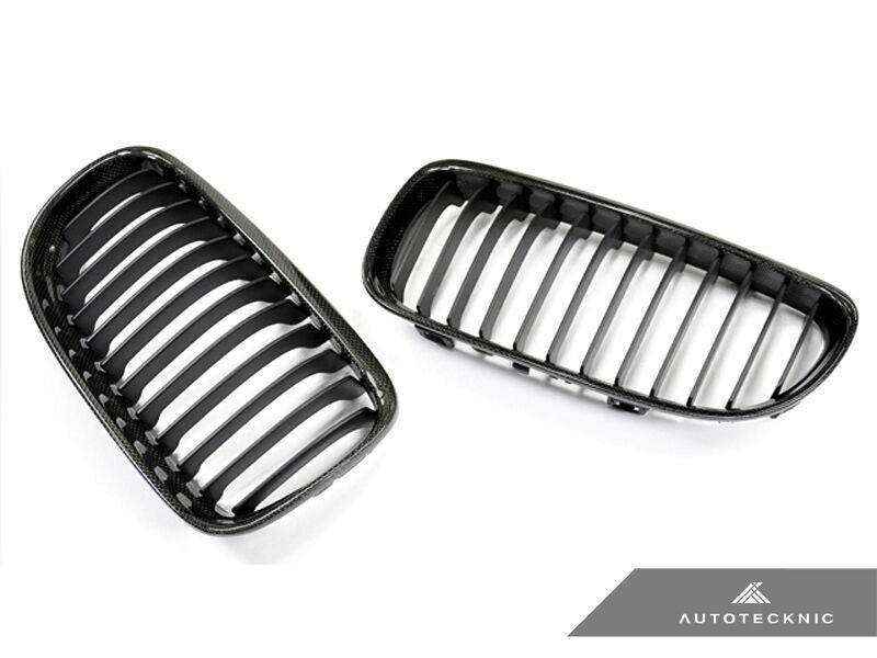 AutoTecknic Replacement Carbon Fiber Front Grilles BMW E90 Sedan / E91 Wagon | 3 series LCI