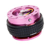 NRG Gen 2.1 Pink/Black Ring Steering Wheel Quick Release