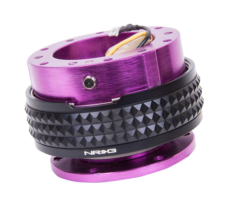 NRG Gen 2.1 Purple/Black Ring Steering Wheel Quick Release