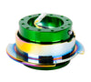 NRG Gen 2.5 Green/Neochrome Ring Steering Wheel Quick Release