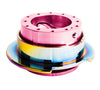NRG Gen 2.5 Pink/Neochrome Ring Steering Wheel Quick Release