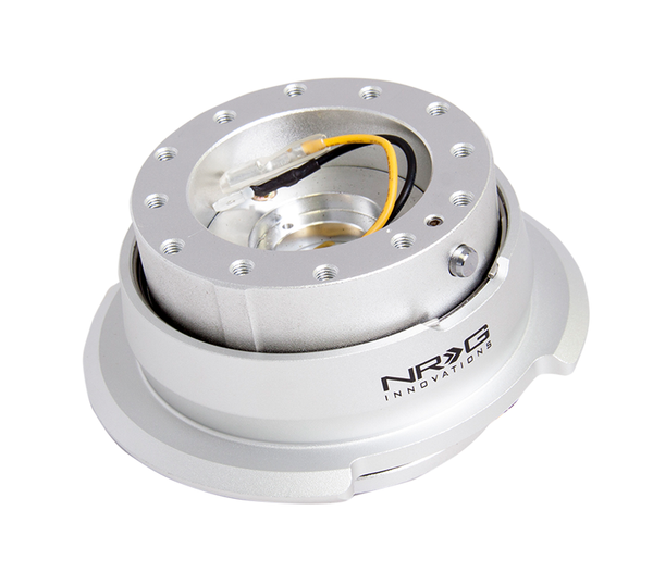 NRG Gen 2.8 Silver/Silver Ring Steering Wheel Quick Release