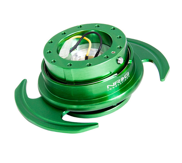 NRG Gen 3.0 Green/Green Ring Steering Wheel Quick Release