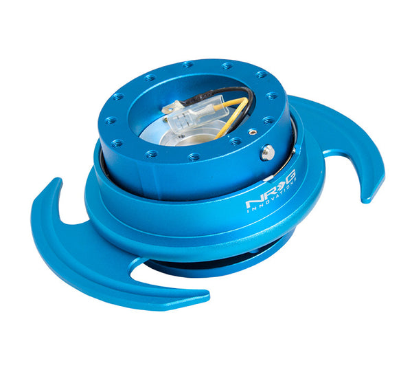 NRG Gen 3.0 Blue/Blue Ring Steering Wheel Quick Release