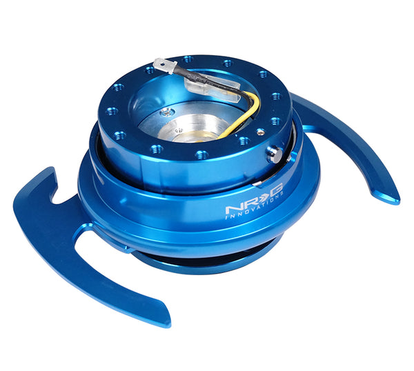 NRG Gen 4.0 Blue/Blue Ring Steering Wheel Quick Release